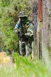 Combat d'entraînement militaire Images libres de droits