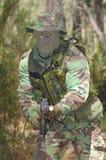 Combat d'entraînement militaire Photographie stock libre de droits