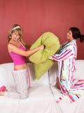 Combat d'oreiller Image libre de droits