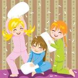 Combat d'oreiller illustration de vecteur
