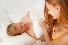 Combat d'oreiller Photo libre de droits