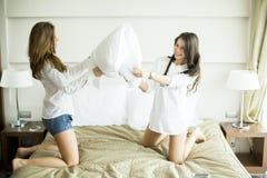 Combat d'oreiller Images libres de droits