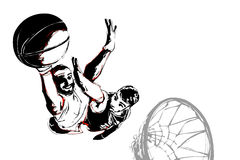 Combat de basket-ball Photographie stock libre de droits