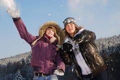 Combat de boule de neige Image libre de droits