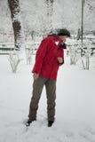 Combat de boule de neige Photographie stock libre de droits