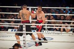 Combat de boxe Oleksandr Usyk contre Danie Venter Photo libre de droits