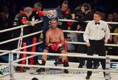 Combat de boxe Oleksandr Usyk contre Danie Venter Photos stock