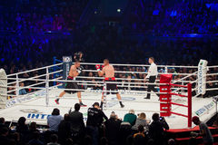 Combat de boxe Oleksandr Usyk contre Danie Venter Images libres de droits