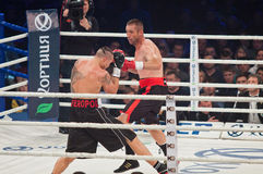 Combat de boxe Oleksandr Usyk contre Danie Venter Image stock