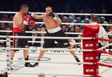 Combat de boxe Oleksandr Usyk contre Danie Venter Photographie stock libre de droits