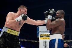 Combat de boxe professionnelle Images libres de droits