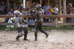 Combat de chevalier Photos libres de droits