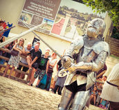 Combat de chevaliers Photo libre de droits