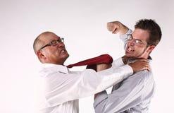Combat de collègues Images stock