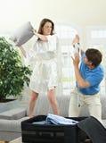 Combat de couples photo stock