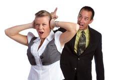 Combat de couples Images stock