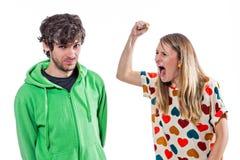 Combat de couples Photographie stock libre de droits