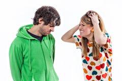 Combat de couples Image libre de droits