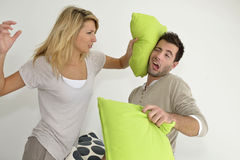 Combat de couples Photos stock