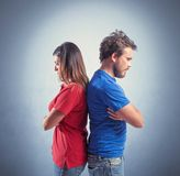 Combat de couples Photographie stock libre de droits