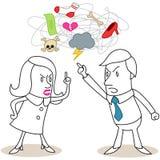 Combat de couples illustration stock