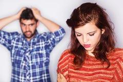 Combat de couples photo libre de droits