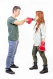 Combat de couples photos libres de droits