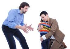 Combat de famille photographie stock libre de droits