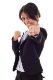 Combat de femme d'affaires image libre de droits