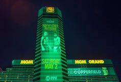 Combat de Floyd Mayweather et de Manny Pacquiao Image stock