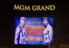 Combat de Floyd Mayweather et de Manny Pacquiao Images stock