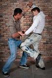 Combat de garçons de rue Photos stock