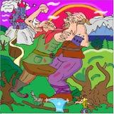 Combat de Giants illustration de vecteur