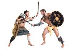 Combat de gladiateurs image libre de droits