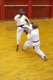 Combat de karaté Photo libre de droits