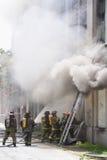 Combat de l'incendie Images stock