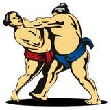 Combat de lutteurs de sumo Photo stock