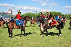 Combat de Napoleon Image libre de droits