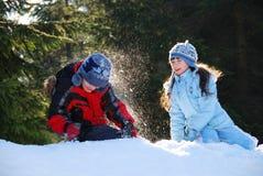 Combat de neige Images stock