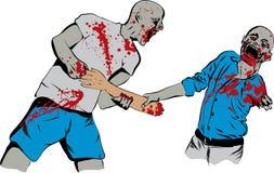 Combat de nourriture de zombi Photos libres de droits