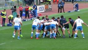 Combat de rugby banque de vidéos