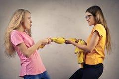 Combat de soeurs Images stock