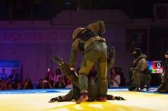 Combat de soldats de COUP Photos stock