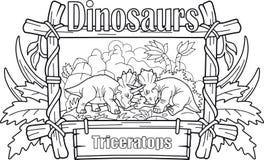 Combat de triceratops de deux bandes dessinées Photos libres de droits