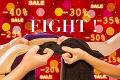 Combat de vente Photographie stock libre de droits