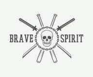 Combat de vintage ou logo d'arts martiaux, emblème, insigne, label Images libres de droits