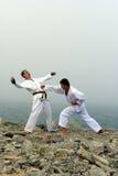 Combat du karateka deux Images stock