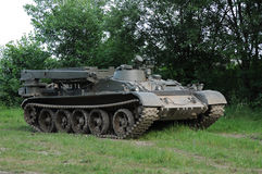 Combat engineers vehicle. With a salvage crane Stock Image