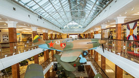 Combat fighter aircraft of the exhibit of the military historical Museum, Russia, Ekaterinburg, 05.03.2016 year Royalty Free Stock Images
