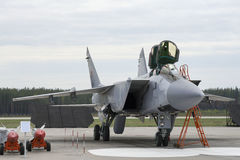 Combat fighter prepares to take off Stock Photography